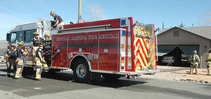 Crews from Central Arizona Fire & Medical Authority extinguished a fire that broke out in a Prescott Valley home in the 3800 block of North Valorie Drive Thursday, Feb. 27, 2020. (CAFMA/Courtesy)