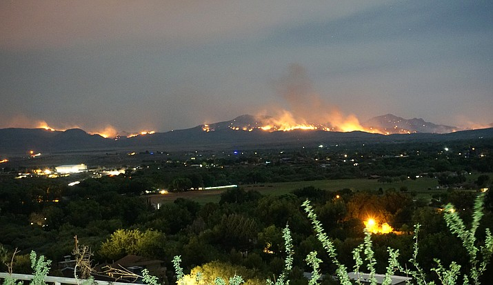 The Backbone Fire, burning in Fossil Creek between Camp Verde and the Pine-Strawberry area, is the largest fire in the Verde Valley at more than 32,000 acres. Photo courtesy Cheyenne Weatherford