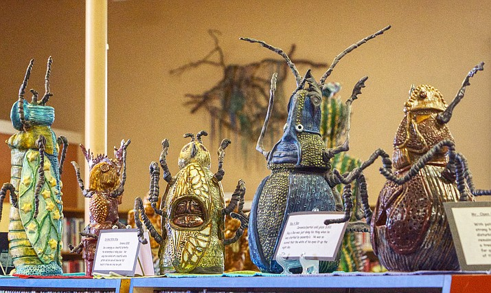 """""""Collection of Bugs"""", Ceramics by Flo Flynn. Courtesy of David Perrell"""