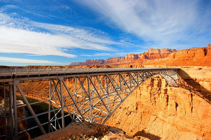 The new Navajo Bridge was built in 1995 and spans the Colorado River near Lee's Ferry. (Photo/Adobe Stock)