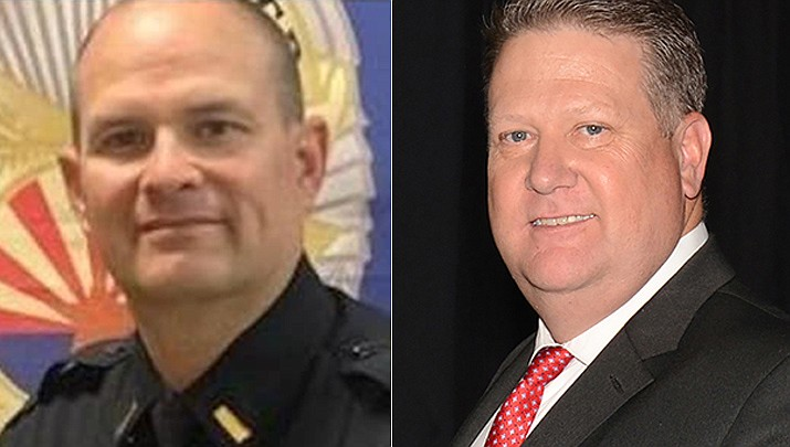 Lt. Jeremy Martin, left, is now acting police chief for Prescott Valley, following Chief Steve Roser's retirement effective July 2, 2021. (Courtesy)