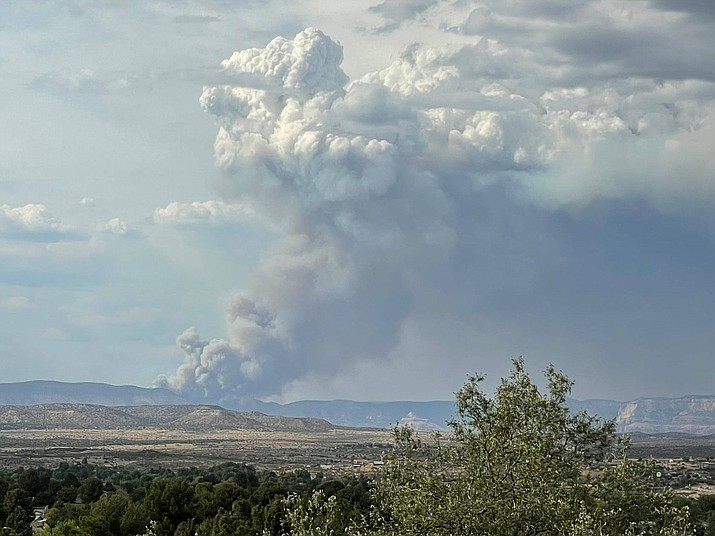 The Rafael Fire has burned 24,064 acres as of Tuesday, June 22, 2021. (YCSO/Courtesy)
