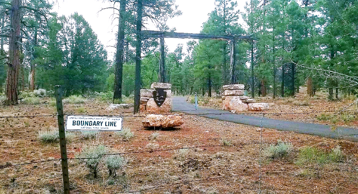 Boundary line at Greenway Trail in Tusayan.