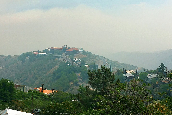 Winds are expected to kick up Sunday afternoon and blow in from the northeast. While the Verde Valley won't look quite as smoky as it did Saturday morning, air quality is expected to again be unhealthful. Forest officials occur everyone to remain indoors. VVN/Vyto Starinskas