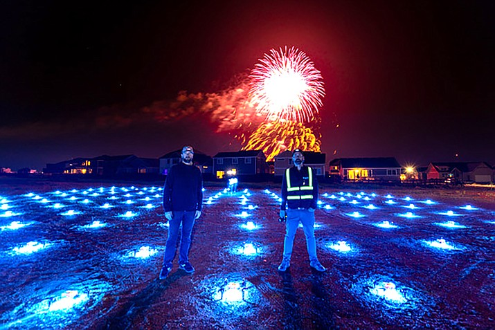 Hire UAV Pro, a Denver based company that conducts drone light shows, will display a state-of-the-art show July 4 in Tusayan. A parade, kids corner and concert will take place earlier in the day. (Submitted photo)