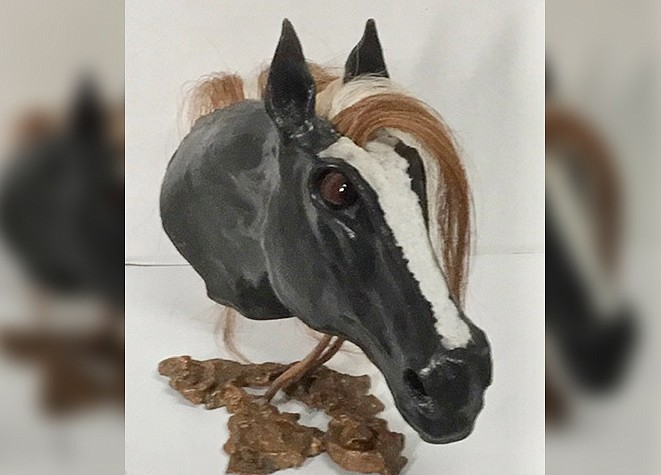 The Village Gallery of Local Artists will feature the unique work of local sculptor Karl Williams during the month of July.