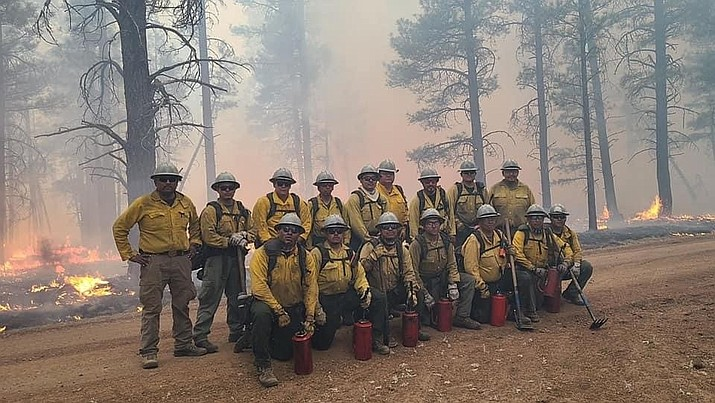 Navajo Nation firefighters responded to the Rafael Fire, south of Flagstaff last week.  (Photo/OPVP)