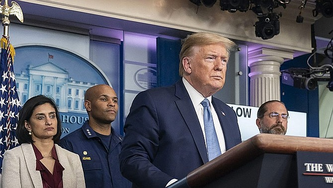 """Donald Trump's company and its longtime finance chief were charged Thursday in what prosecutors called a """"sweeping and audacious"""" tax fraud scheme in which the executive collected more than $1.7 million in off-the-books compensation, including apartment rent, car payments and school tuition. (Official White House file photo/Public domain)"""