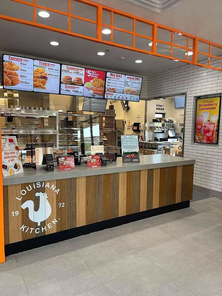On Wednesday, June 30, 2021, the first Popeyes fried chicken fast food restaurant in the Quad Cities opened at 5610 Highway 69 on the Home Depot side of the Prescott Valley Crossroads shopping center. (Prescott Valley Chamber of Commerce/Courtesy)