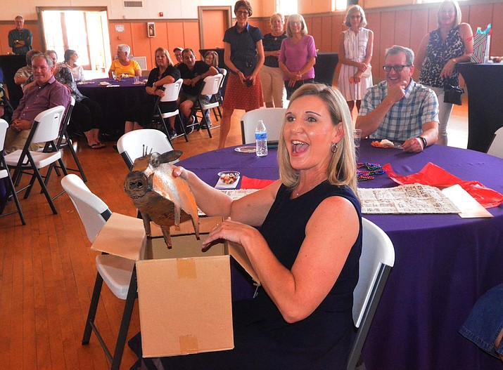 Outgoing Town Manager TracieHlavinka said goodbye to staff, friends and other municipal officials at the Clarkdale Clubhouse Thursday. VVN/Vyto Starinskas