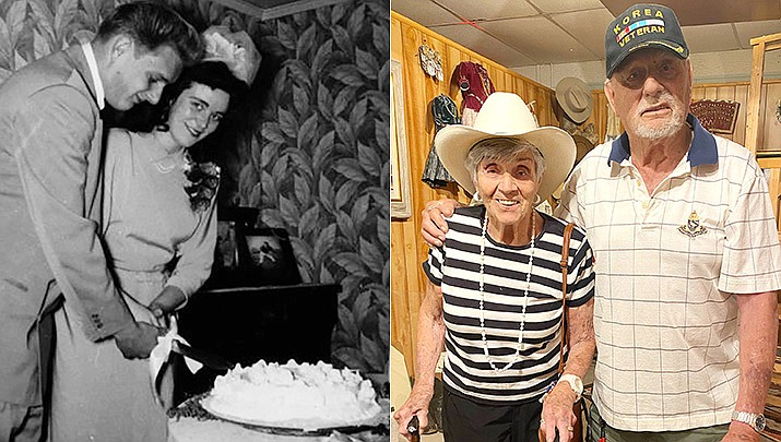 In 1951, they snuck off from Hollywood, California, to Yuma, Arizona, to get married at ages 17 and 16. Marv and Patti Jane Maki of Prescott will celebrate their 70th anniversary on July 8, 2021. (Courtesy)