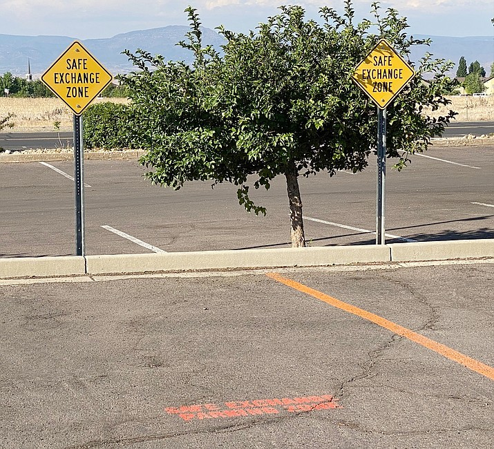 """The Prescott Valley Police Department now has a """"Safe Exchange Zone"""" in its station's parking lot for people conducting business with those they do not know as well as custody exchanges. (Courtesy)"""