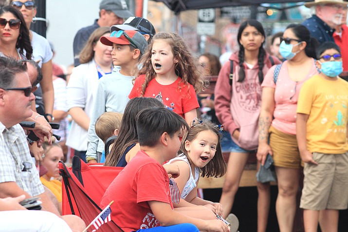 In honor of Independence Day, the city of Williams hosts its annual Fourth of July parade in downtown Williams. (Loretta McKenney/WGCN)