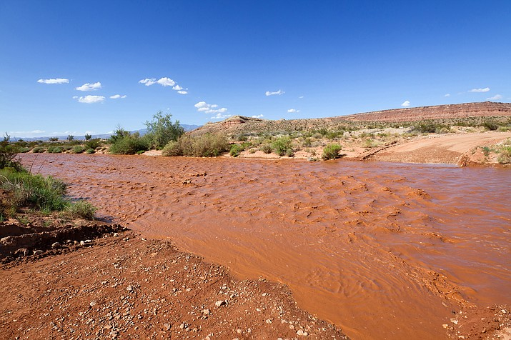 Flash flooding is a concern during monsoon season. (Stock photo)