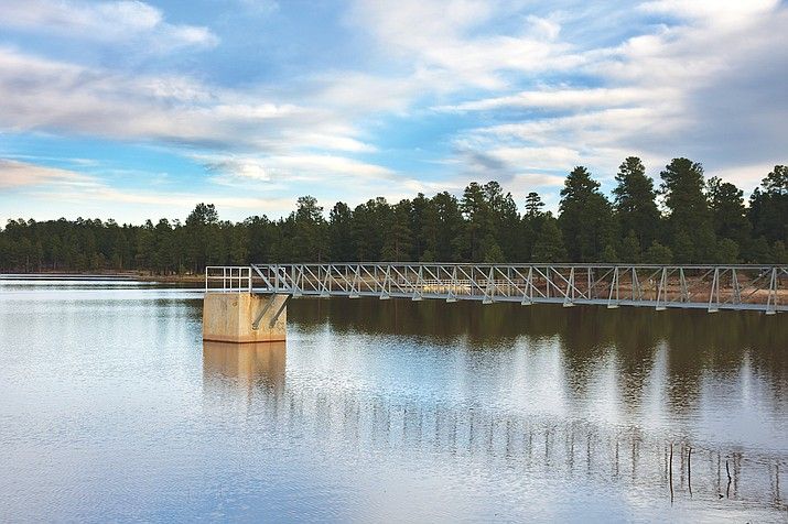 Kaibab Lake is one of five surface reservoirs that supplement the city of Williams water supply. (Photo/Kaibab National Forest)