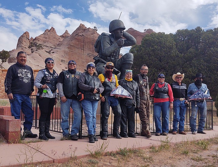 Navajo Hopi Honor Riders in Window Rock, Arizona. From left: Wayne, Geri, Allen, Carla, Larry, Patricia, Ray, Karen, Donnie and Chinle Council Delegate Eugen Tso. (Submitted photo)