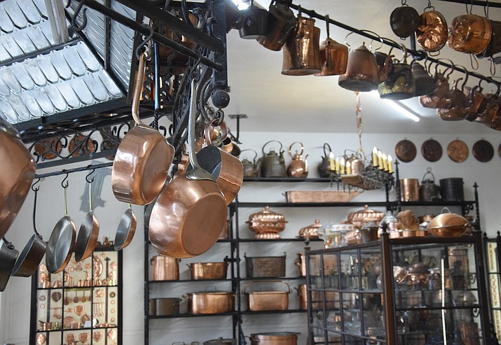 One room at the Arizona Copper Museum, located at Ninth and Main streets in Clarkdale, shows the many ways copper was fashioned into pots, pans, cauldrons, baking tins and every other cooking device or aid you can think of, throughout human history. VVN/Jason W. Brooks