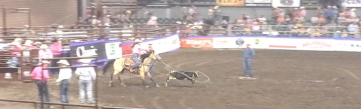 Shilah Williams competes in the Girls Breakaway Roping event at the National Junior High Finals Rodeo in Des Moines, Iowa, June 20-26. (Submitted photo)