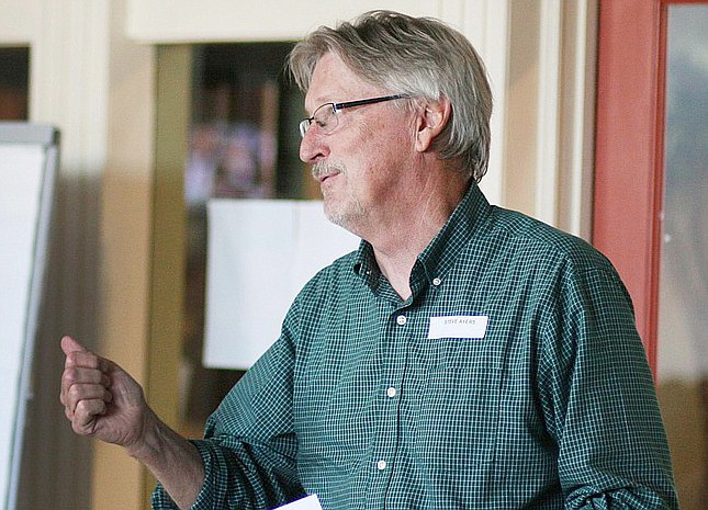 Economic Development DirectorSteve Ayers discussed the Verde Valley Circle Trail Concept loop trail system with the Camp Verde Town Council on Wednesday night. VVN file photo/Vyto Starinskas