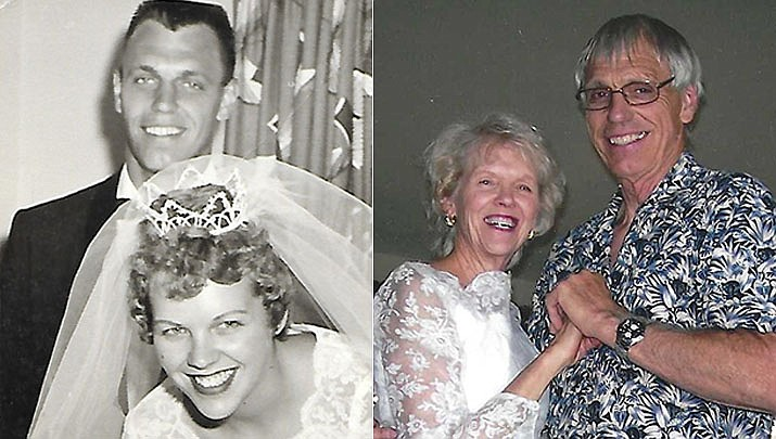 While having fun year-round, this is an especially important year for Donald and Connie Sieh as they celebrate 60 years of marriage as of July 3. The couple is shown then and now. (Courtesy)