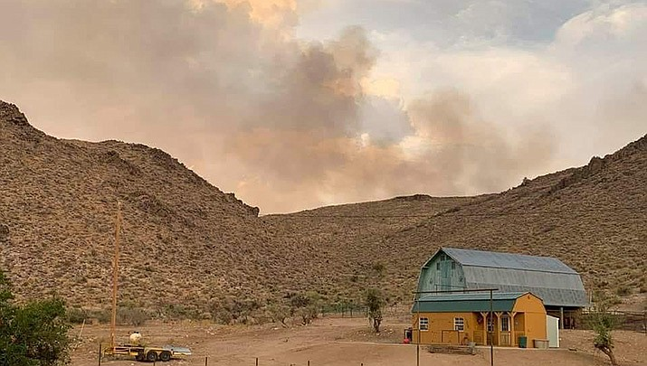 The Elements Fire in the Cerbat Mountains had burned 1,300 acres as of the morning of Tuesday, July 13. (Courtesy photo)