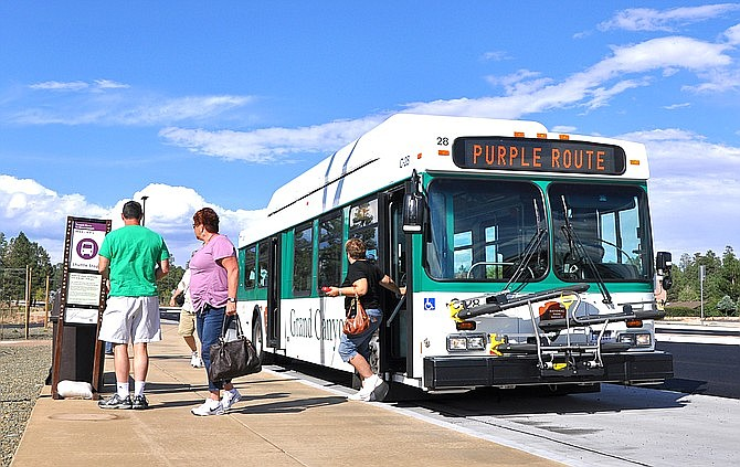 Grand Canyon National Park shuttle busses offer several routes throughout the park. (Photo/NPS)