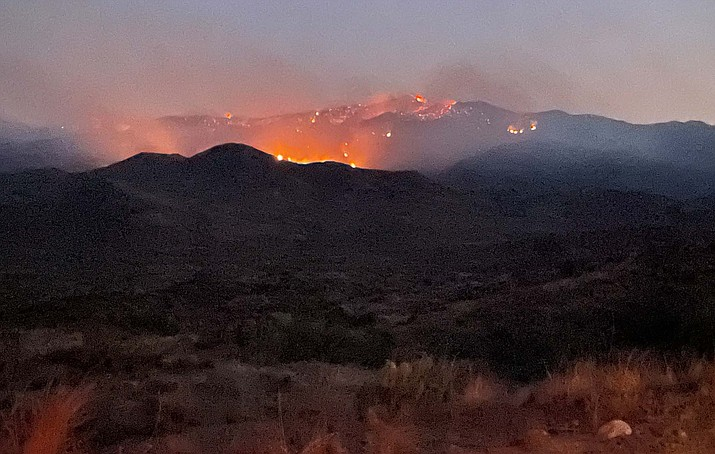 The Tiger Fire has burned 16,246 acres as of Monday, July 12, 2021, and is now 43% contained. (YCSO/Courtesy)