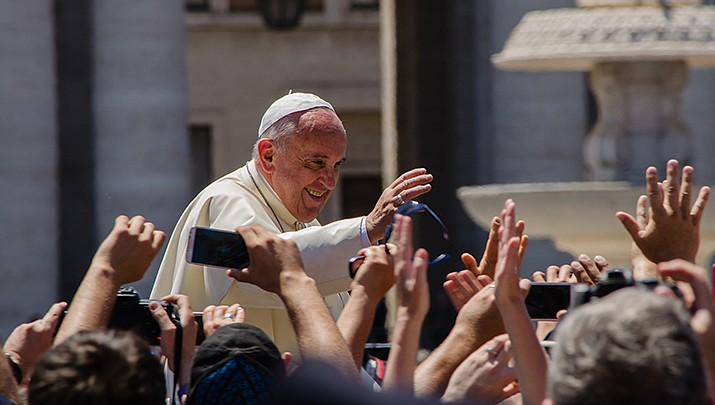 Pope Francis is back at the Vatican after surgery to remove half of his colon. (Photo by Alfredo Borba, cc-sa-by-https://bit.ly/3ibYusG)