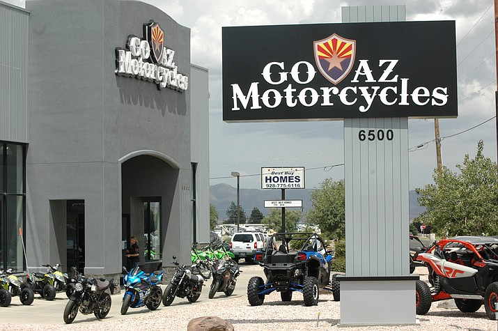 GO AZ Motorcycles recently bought the former Star Island Motorsports at 6500 E. Highway 69 in Prescott Valley, where it will continue to sell both new and pre-owned motorcycles, ATVs and side-by-side UTVs. (Doug Cook/Courier)