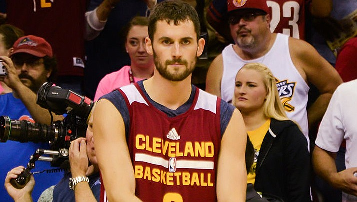 Kevin Love of the Cleveland Cavaliers, picked to play for the U.S. Olympic basketball team, has withdrawn from the games due to a calf injury. (Photo by Erol Drost, cc-by-sa-2.0, https://bit.ly/2UVCAlm)