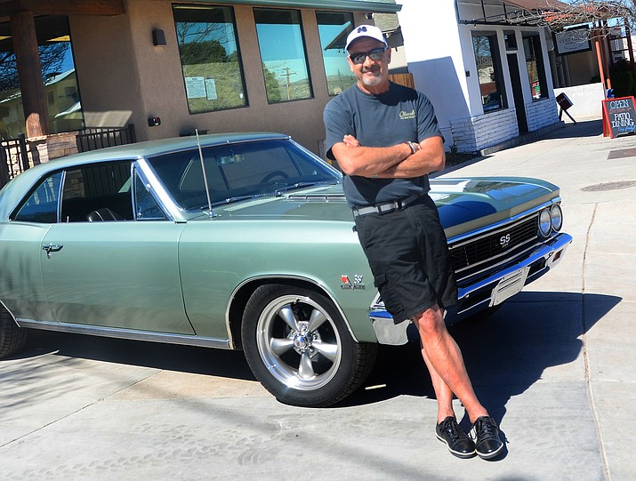 Tony Ontiveros poses with one of his cars in Old Town Cottonwood. (Vyto Starinskas/Independent, file)