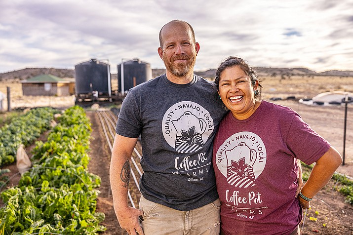 Co-founder of Coffee Pot Farms Cherilyn Yazzie and her husband are trying to find answers through farming to nutrition issues on the Navajo Nation. (Photo courtesy of Raymond Chee)