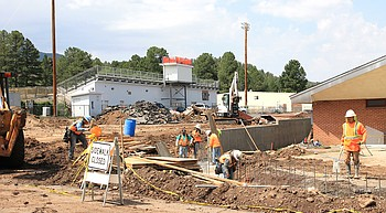 Work continues at Williams High School photo