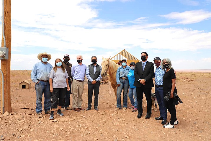 The Navajo Tribal Utility Authority partnered with the city of Los Angeles, California for Light Up Navajo to provide electricity for families in Leupp. (Photo/OPVP)