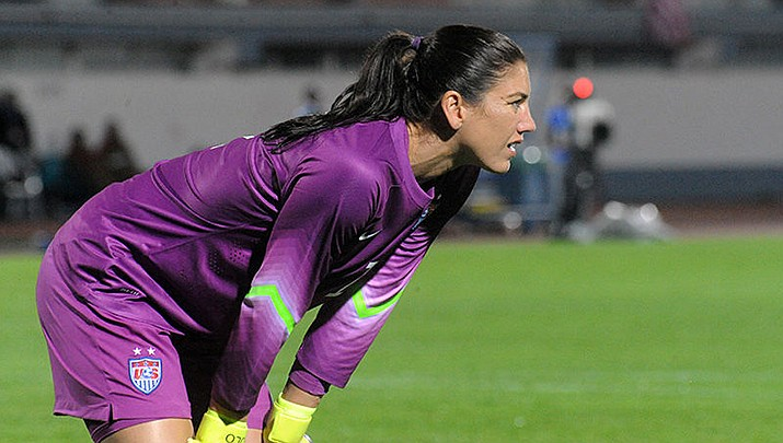 Sweden beat the U.S. in the opening round of the women's soccer competition at the Olympics in Tokyo on Wednesday, July 21. U.S. goalie Hope Solo is pictured. (Photo by Anders Henrikson, cc-by-sa-2.0, https://bit.ly/3Bs2yxN)