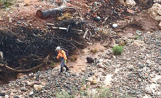 Search efforts continued early Sunday morning for a teen-age girl washed away in a flash flood Saturday. VVN/Vyto Starinskas