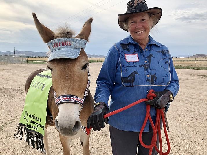 Diane Behar and her mule, Ferris Muler. (Corrina Sisk-Casson/Review)