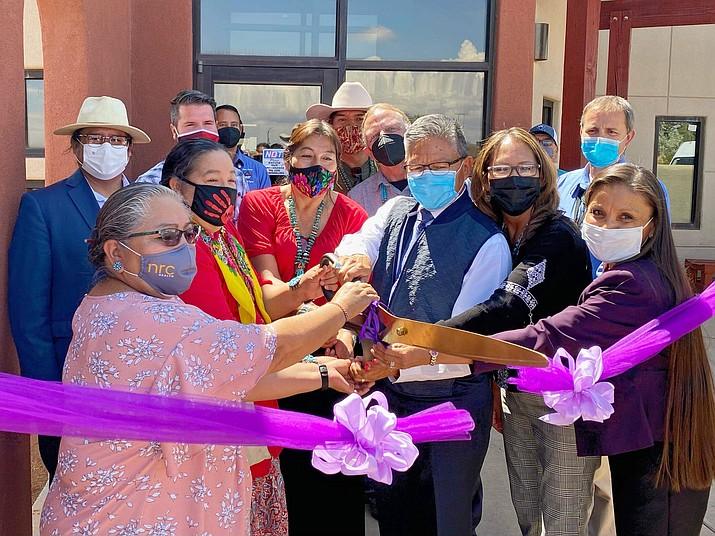 Gentle Ironhawk Shelter marked its reopening July 14 with a ribbon cutting ceremony. (Photo/OPVP)