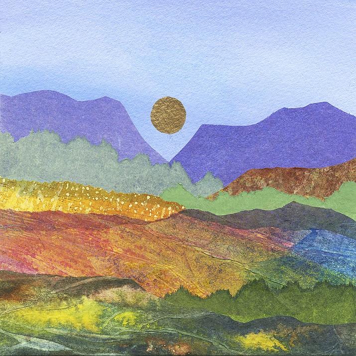 Arizona Landscape by Brigitta Lapides, Mixed Media Collage