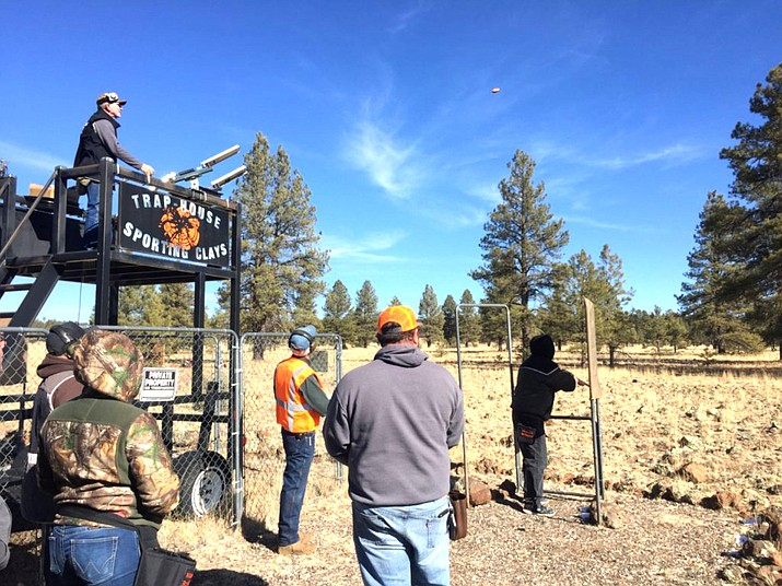 Williams Sportsman's Club Sporting Clays Director Warren Weir launches targets from the tower.   (Submitted photo)
