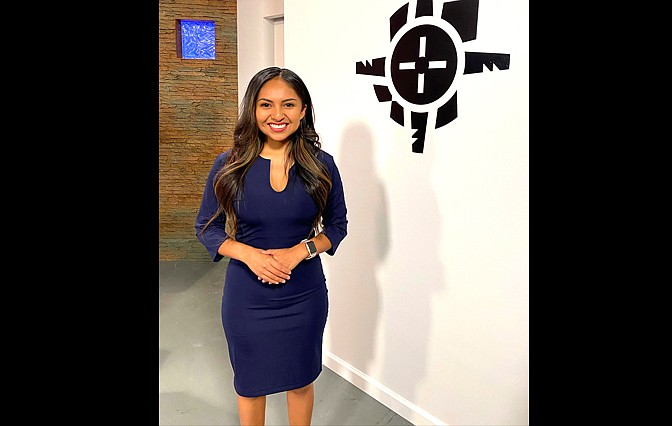 Aliyah Chavez is from Kewa Pueblo, New Mexico and was selected as a permanent anchor for Indian Country Today's television program. (Photo/Indian Country Today)