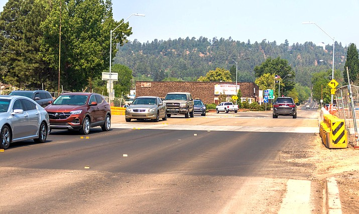 Lane restrictions on Route 66 in Flagstaff continue. (Photo/ADOT)