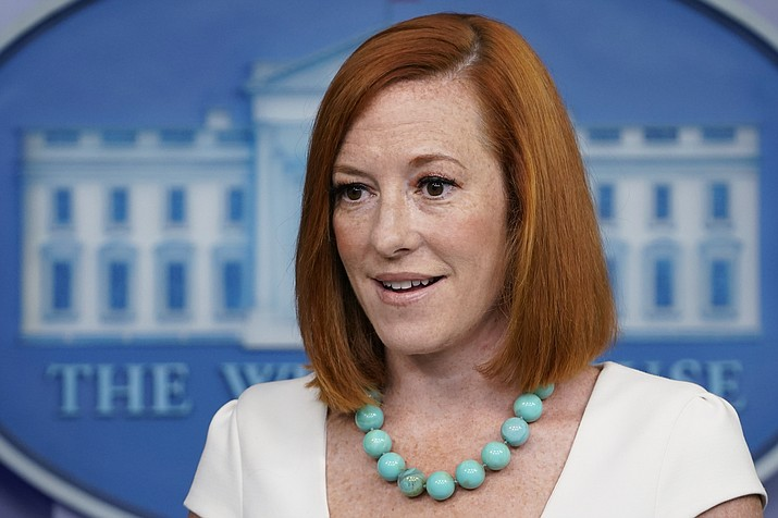 White House press secretary Jen Psaki speaks during the daily briefing at the White House in Washington, Monday, July 26, 2021. (Susan Walsh/AP)