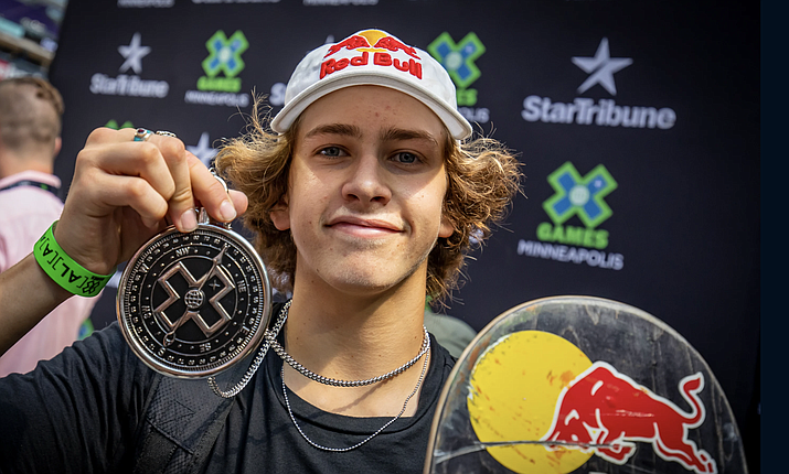 Jagger Eaton was once the youngest person to ever compete at the X-Games. Now, he's making history again as an inaugural member of the U.S. Olympic Skateboarding Team.(Photo courtesy RedBull.com)