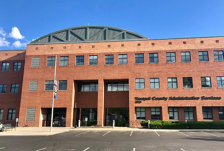 The county administration building in Prescott, and all other Yavapai County public buildings will be closing to the public as of Thursday, Aug. 5, due to rising COVID-19 cases. (Courier file photo.)