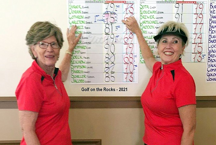 The low gross winners were local golfer Janet Cothren (left) and her partner Debbie Carleton (right) from Forest Highlands. (Submitted photo)