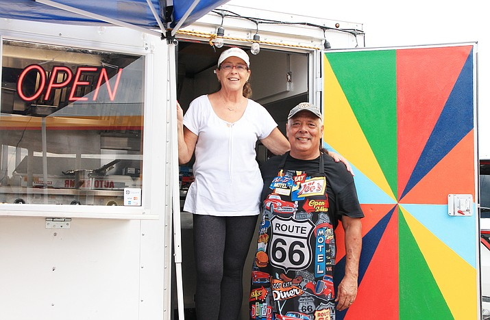 Donna Derryberry and John Rivera opened John and Donna's Local Grub several weeks ago in Williams. The food cart is located at the Shell Gas Station on Grand Canyon Boulevard.  (Loretta McKenney/WGCN)
