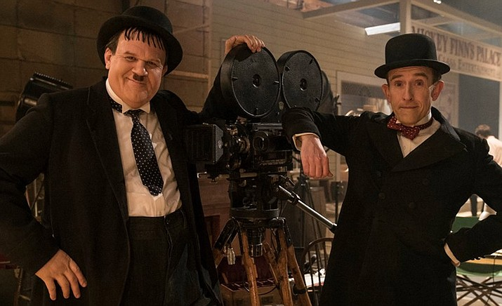 """The true story of Hollywood's greatest comedy double act — Laurel and Hardy — is brought to the big screen. Starring Steve Coogan and John C. Reilly as the inimitable movie icons, """"Stan and Ollie"""" is the heart-warming story of what would become the pair's triumphant farewell tour. (SIFF/Courtesy)"""