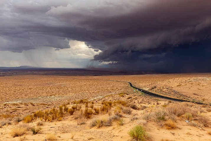 A monsoon storm gathers over the Hopi reservation July 25. The storm produced heavy flooding across Hopi land and on the Navajo Nation resulting in the Hopi Tribe declaring a state of emergency July 25. (Gilbert Honanie/NHO)