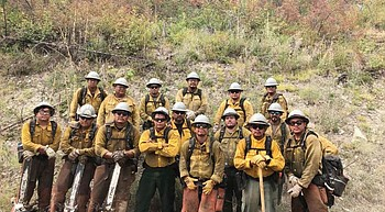 Navajo Hotshot crew assigned to Montana fire photo